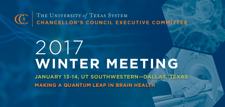 2017 CCEC Winter Meeting Schedule - The University of Texas